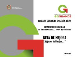 DGEB Ruta de Mejora.ppt - Subdirección de Educación Primaria
