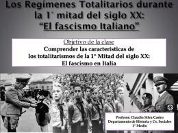 Clase El fascismo en Italia