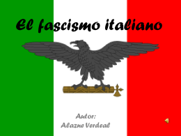 El fascismo italiano (Alazne Verdeal)
