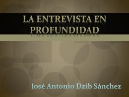 La Entrevista En Profundidad - PSICO