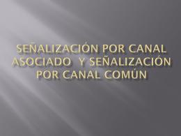Señalización por canal asociado y señalización por canal común
