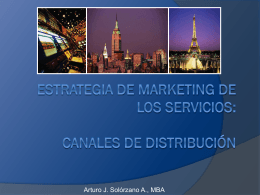 Marketing del Turismo - Canales de Distribución