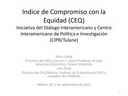Indice de Compromiso con la Equidad (CEQ) Iniciativa