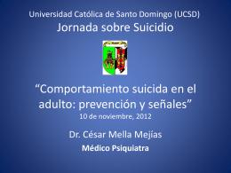 suicidio - Colegio Dominicano de Neuropsicofarmacología