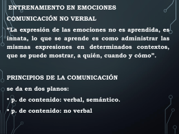 Entrenamiento en emociones