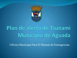 Plan de Alerta de Tsunami - Red Sísmica de Puerto Rico