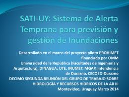 SATI-UY: Sistema de Alerta Temprana para previsión y