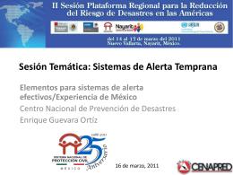 Elementos para sistemas de alerta efectivos/Experiencia de México