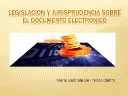legislacion y jurisprudencia sobre el documento electronico