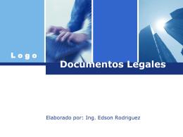 Documentos Legales - Ing. Edson Rodríguez Solórzano