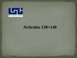 Artículos 130+140