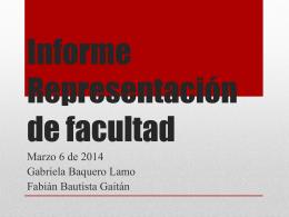 Informe Representación de facultad