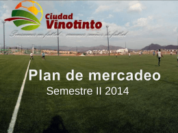 Plan de Mercadeo Ciudad Vinotinto