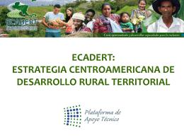 Territorios ECADERT - Territorios Centroamericanos