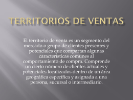 DISEÑO DE TERRITORIO DE VENTAS