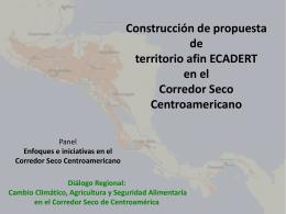 Construcción de propuesta de territorio afin ECADERT en