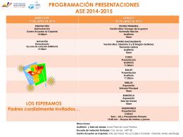 programación presentaciones ase 2013-2014