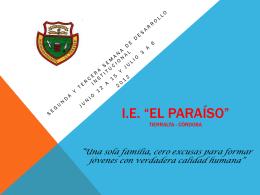 I.E. *EL PARAÍSO*