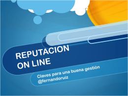 REPUTACION ON LINE - Fundacion Estudios de la Comunicación