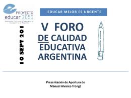 NOVEDADES 2013 - Proyecto Educar 2050