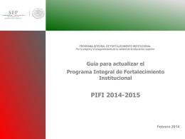 Guía PIFI 2014-2015