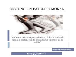 DISFUNCION PATELOFEMORAL