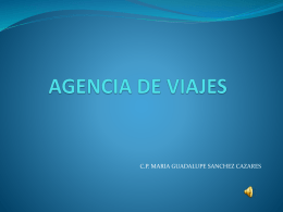AGENCIA DE VIAJES - Repositorio Digital