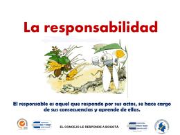 la responsabilidad - Concejo de Bogotá