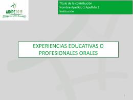 Plantilla PowerPoint de estilo para experiencias educativas o