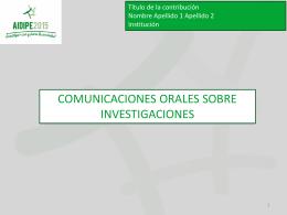 Plantilla PowerPoint de estilo para comunicaciones orales