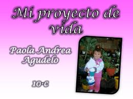 Proyecto de vida Paola Agudelo