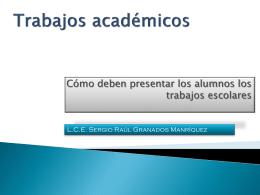 Trabajos académicos III