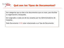 Qué son los Tipos de Documentos?
