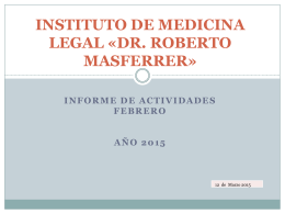 instituto de medicina legal «dr. robertomasferrer