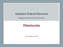Distritación - Instituto Nacional Electoral