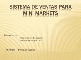 Sistema de ventas para mini markets