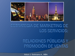 Relaciones Públicas y Promoción de Ventas - Marketing