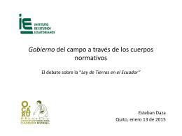 Esteban Daza – IAEN LEY DE TIERRAS – 13.01