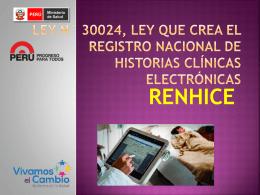 Ley N° 30024, Ley que crea el Registro Nacional de Historias