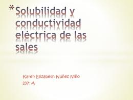 Solubilidad y conductividad eléctrica de las sales