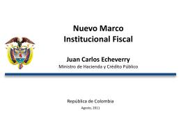 Diapositiva 1 - Ministerio de Hacienda y Crédito Público