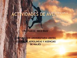 actividades DE AVENTURA - TS-UNITEC