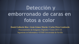 Detección y emborronado de caras en fotos a color
