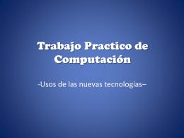 Trabajo Practico de Computacion