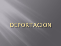 deportacion power point