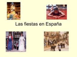 Las fiestas en España