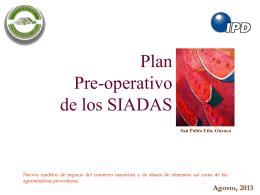 Plan pre-operativo y cronograma