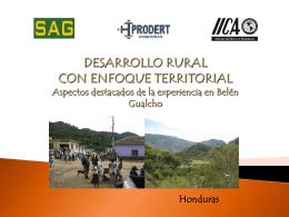 PRESENTACION Grupo Gestor de Belén Gualcho en MANAGUA