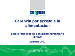 Carencia por acceso a la alimentación (EMSA).