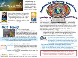 August 17 2014 Bulletin - Iglesia Bautista Puerta La Hermosa